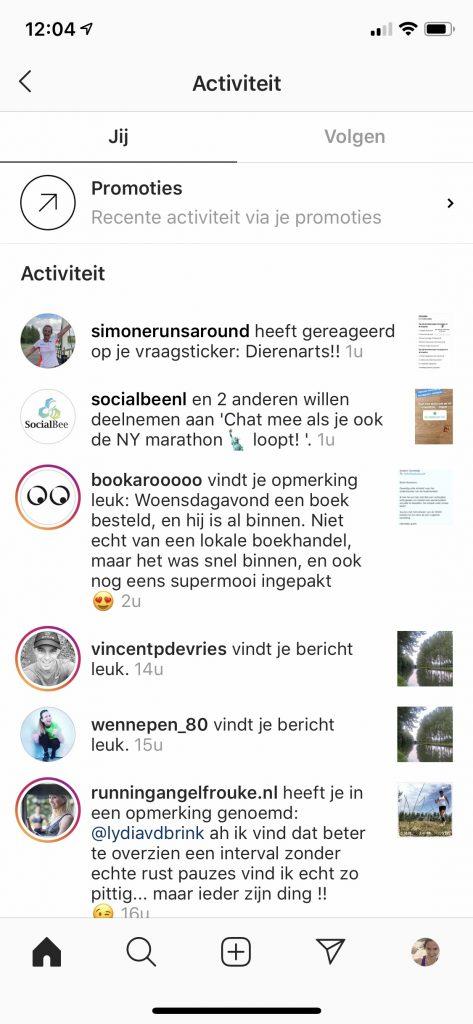 Instagram chatbox uitnodiging socialbee